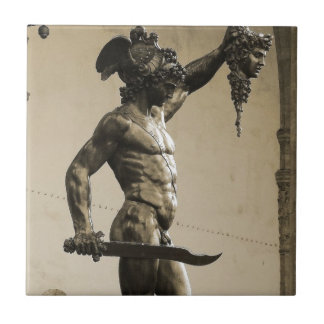 Perseus with the head of Medusa Ceramic Tile