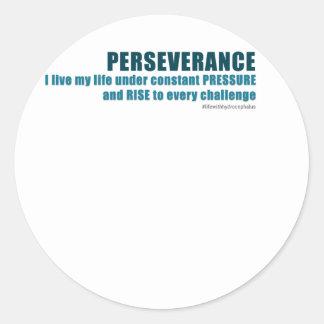 Perseverance Classic Round Sticker