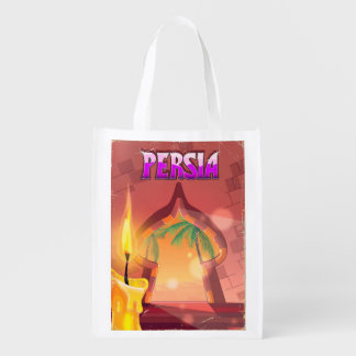 Persia Palace in the warm evening. Reusable Grocery Bag
