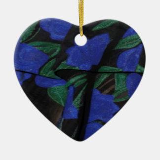 Persian Blue Designer Collection 2017 Ceramic Heart Decoration
