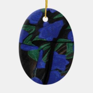 Persian Blue Designer Collection 2017 Ceramic Oval Decoration