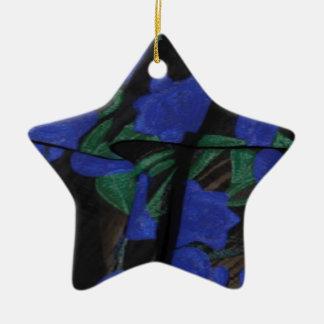 Persian Blue Designer Collection 2017 Ceramic Star Decoration