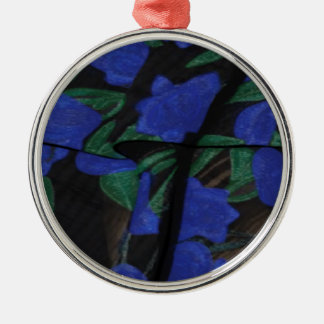 Persian Blue Designer Collection 2017 Silver-Colored Round Decoration