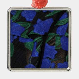 Persian Blue Designer Collection 2017 Silver-Colored Square Decoration
