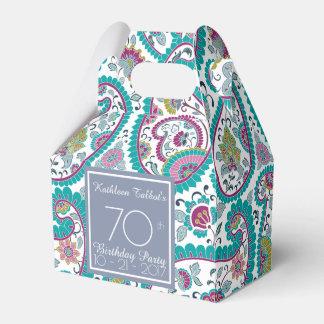 Persian Boteh Paisley 70th Birthday Thank You F B Favour Box