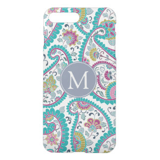 Persian Boteh Paisley Pattern Monogram iPhone Case