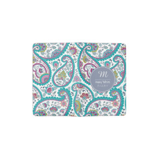 Persian Boteh Paisley Pattern Monogram M NotebookC Pocket Moleskine Notebook