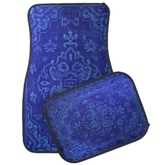 Persian carpet look in blue car mat