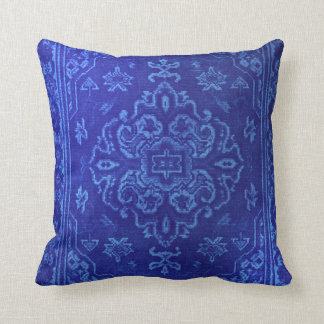 Persian carpet look in blue cushion