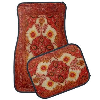 Persian carpet look in copper color car mat