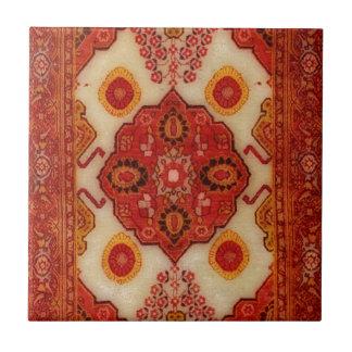 Persian carpet look in copper color ceramic tile
