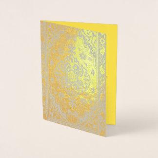 Persian carpet look in gold foil card