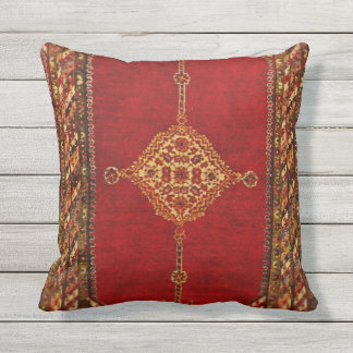 Persian carpet pattern outdoor cushion