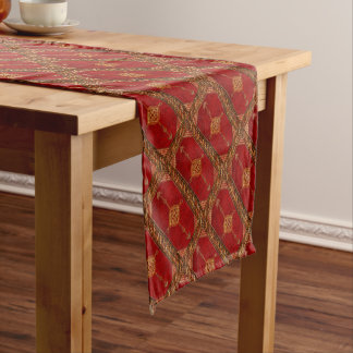 Persian carpet pattern short table runner