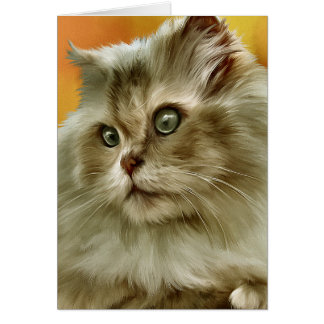Persian Cat Art Card