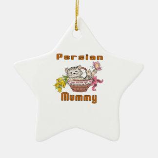 Persian Cat Mom Ceramic Star Decoration