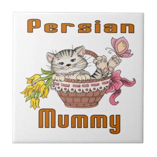 Persian Cat Mom Ceramic Tile