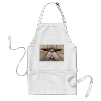 Persian Cat Sticking Tongue Out Standard Apron