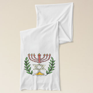 Persian Magen David Menorah Scarf