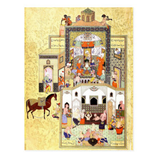 Persian Miniature: Dervish in the Hammam Postcard