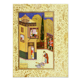 Persian Miniature: The Murid Kisses the Pir's Feet Poster