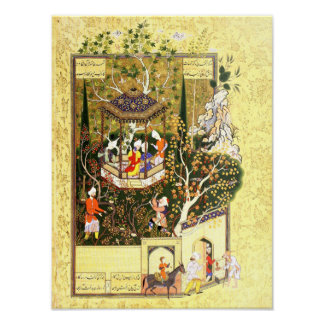 Persian Miniature: Thief in the Orchard Poster