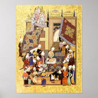 Persian Miniature: Yusuf and Zulaykha's Wedding Poster