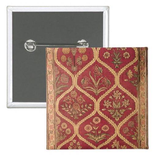 Persian or Turkish carpet, 16th/17th century (wool Pinback Buttons
