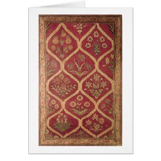 Persian or Turkish carpet, 16th/17th century (wool Greeting Card