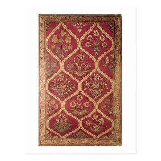 Persian or Turkish carpet, 16th/17th century (wool Postcard