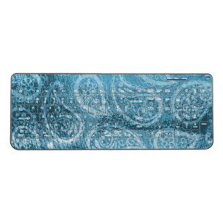 Persian Paisley Pattern Blue Hindu Traditional Wireless Keyboard