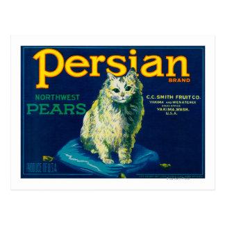 Persian Pear Crate LabelYakima, WA Postcard
