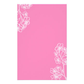 Persian Pink Modern Floral Wedding Stationery