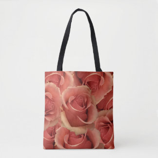 Persian Red Roses Tote Bag