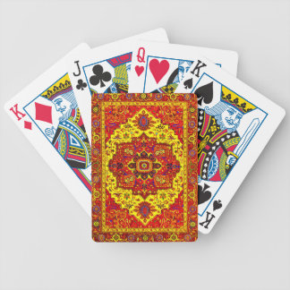 PERSIAN RUG - Red & Yellow Bicycle Playing Cards
