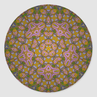 Persian Sky Classic Round Sticker