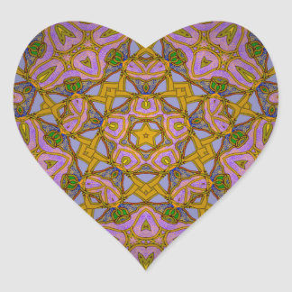Persian Sky Heart Sticker