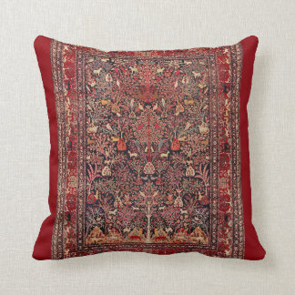 Persian Vintage Antique Carpet Nature Fine Art Cushion