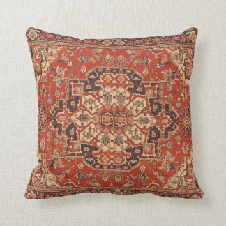 Persian Vintage Rug Floral Fine Art Throw Pillow