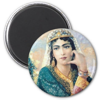 Persian Woman Folk painting in detail Magnet