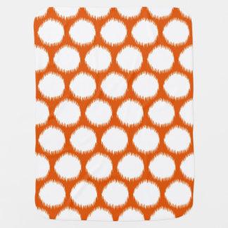 Persimmon Asian Moods Ikat Dots Baby Blanket