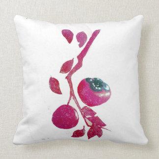 Persimmon on white cushion