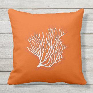 Persimmon Orange Sea Coral Decorative Cushion