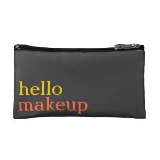 """Persimmon, Sunshine, Grey """"hello makeup"""" MakeupBag Makeup Bag"""