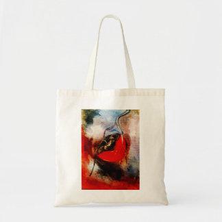 Persimmon watercolor tote bag