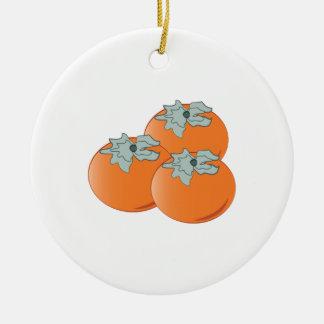 Persimmons Ceramic Ornament