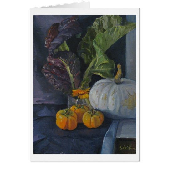 Persimmons & Greens - Art Card, Blank Card