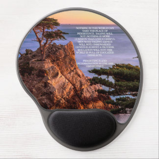 Persistence Calvin Coolidge quote Gel Mouse Pad