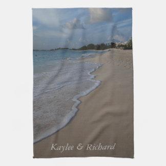 Persoanlized Ocean Beach Tea Towel