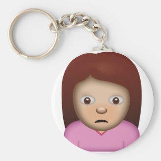 Person Frowning Emoji Key Ring